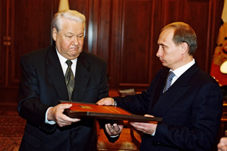 Putin and Yeltsin
