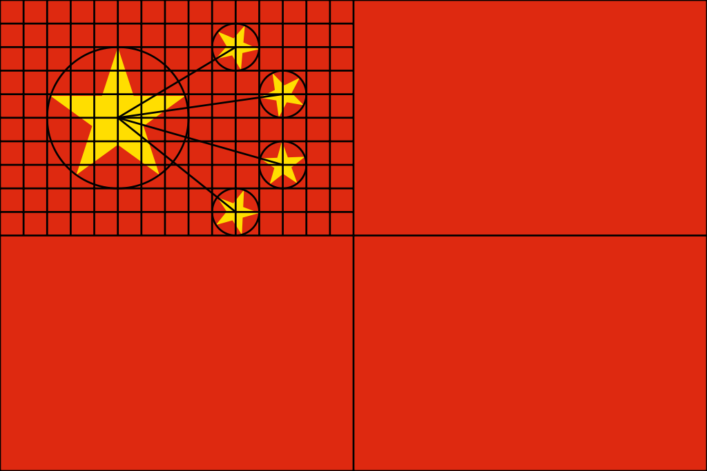 China flag construction sheet