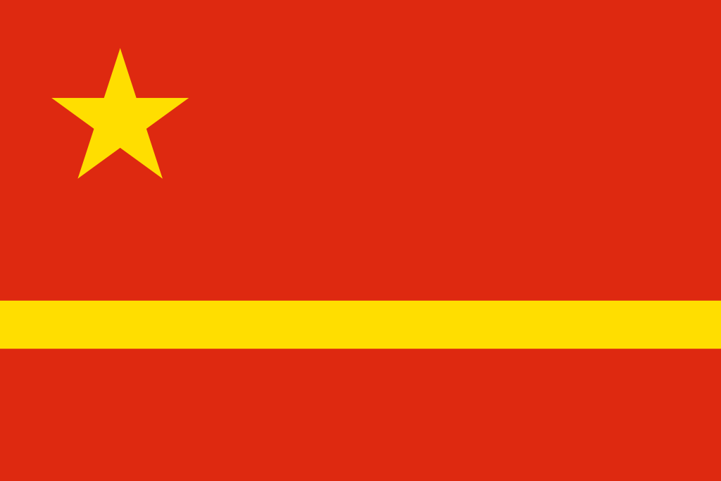 China flag yellow river design