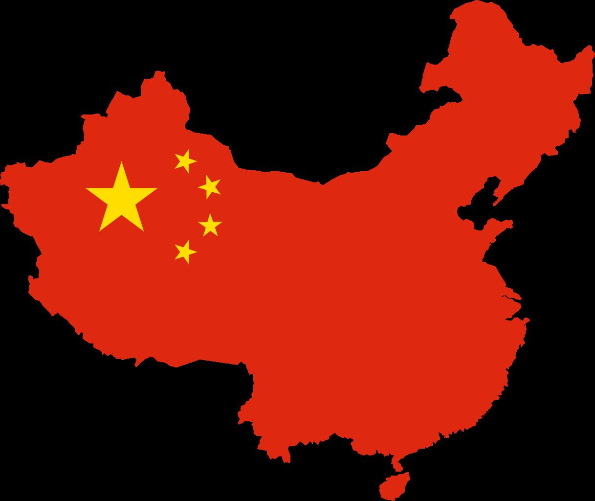 Flag Map China Full Size