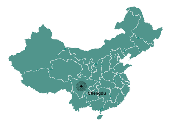 Chengdu population map