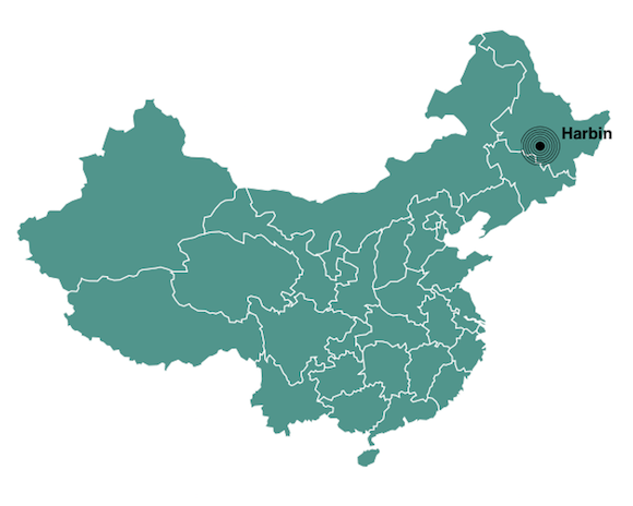 Harbin population map
