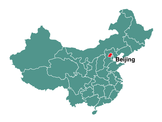 Population of Beijing map