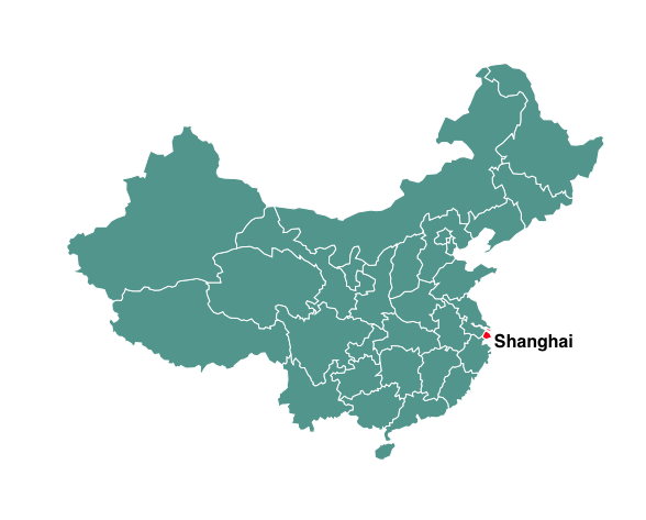 Population of Shanghai map