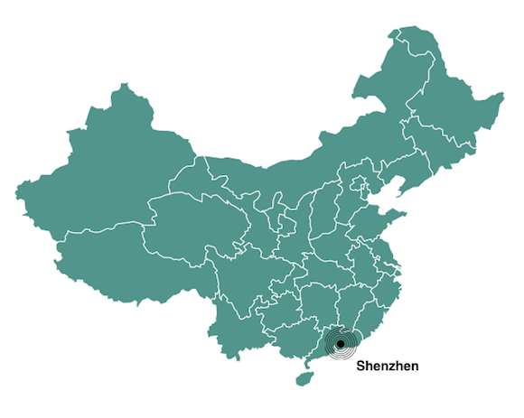 Shenzhen population map