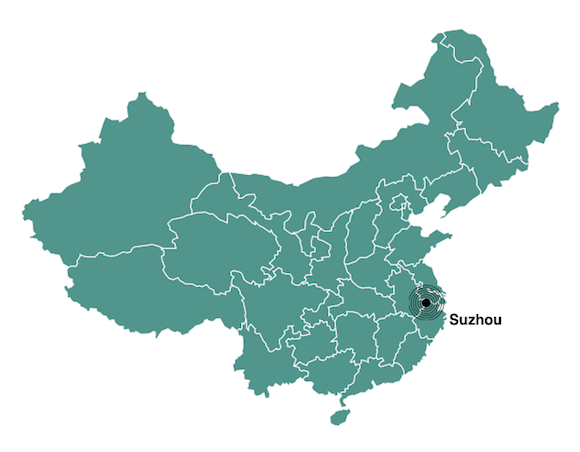 Suzhou population map