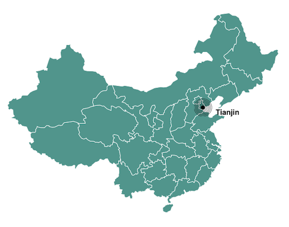 Tianjin population map