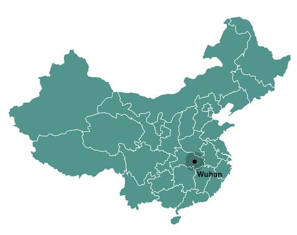 Wuhan population map