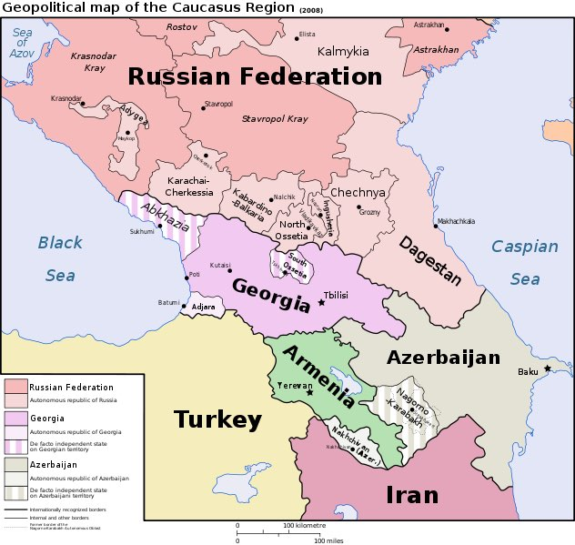 What continent is Armenia in - Map
